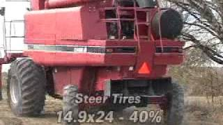 case ih 2366 specialty rotor chopper chaff rock trap combine sold on els