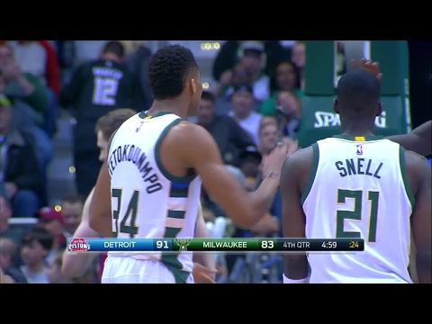 Quarter 4 One Box Video :Bucks Vs. Pistons, 3/31/2017 12:00:00 AM