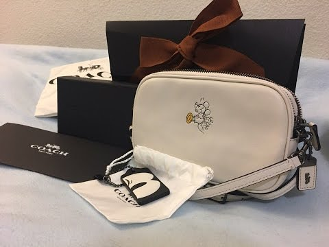 00b46d8147 Unboxing my Limited Edition Disney X Coach Crossbody bag and Bag Tag ...