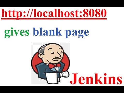 http://localhost:8080 gives blank page for Jenkins