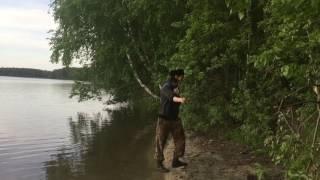 Фланкировка на озере Балтым