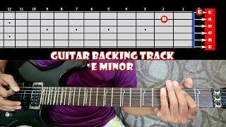 HARD ROCK DISCO Guitar Backing Track In E Minor | 132 BPM