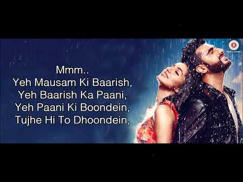 Baarish - Atif Aslam & Shashaa Tirupati - Half Girlfriend (2017) - Lyrical Video