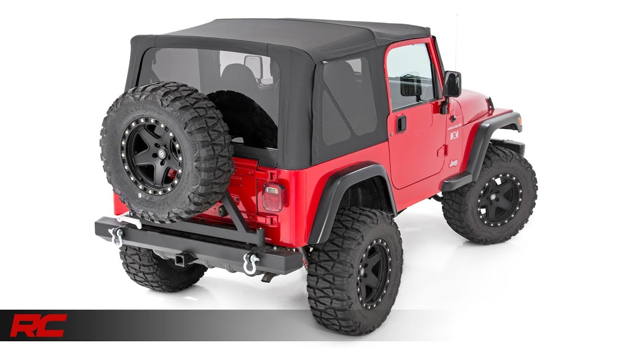 1997 2006 Jeep Wrangler TJ Replacement Soft Top By Rough Country