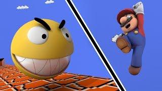 Pacman in Mario Bros world