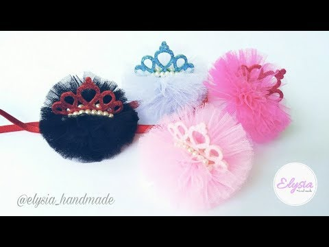 Mini Tulle Crown Headband  82ceacf7068