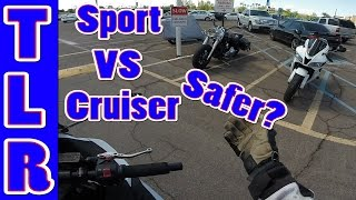 Which Is Safer? | Cruiser VS Sport Bike | Ninja 300