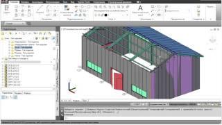 Model Studio CS. Раскладка сэндвич-панелей(Пример использования стандартных инструментов Model Studio CS для раскладки сэндвич-панелей и получения эксплик..., 2016-04-18T11:54:39.000Z)