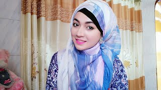 Easy Hijab Style with Earrings covered chest and Back | Pari ZaaD