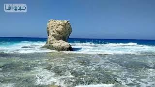 بالفيديو  : صخرة الغرام مقصد مصطافى مطروح