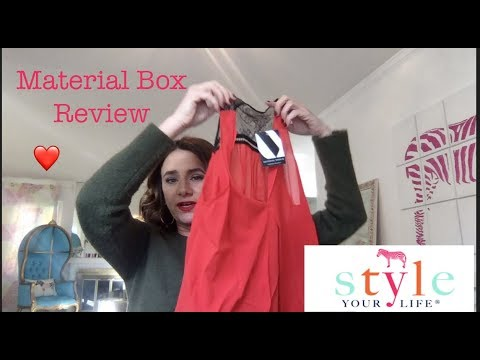 My first Material World Subscription Box. Unboxing