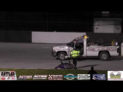 Mini Cup Feature  South Alabama Speedway 3/16/19