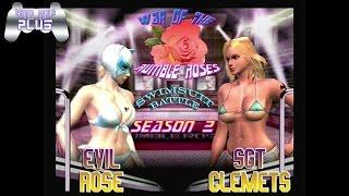 War of the Rumble Roses Swimsuit Battle S2 - Evil Rose vs Sgt Clemets (RR)