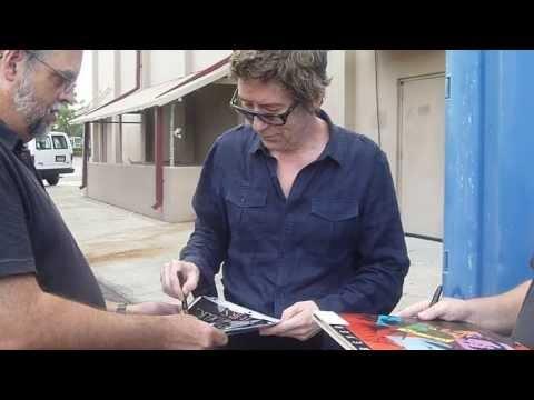 Psychedelic Furs lead singer Richard Butler signing autographs - TopSignatures.com