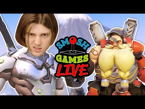 OVERWATCH CARNAGE LIVE! (Smosh Games Live)