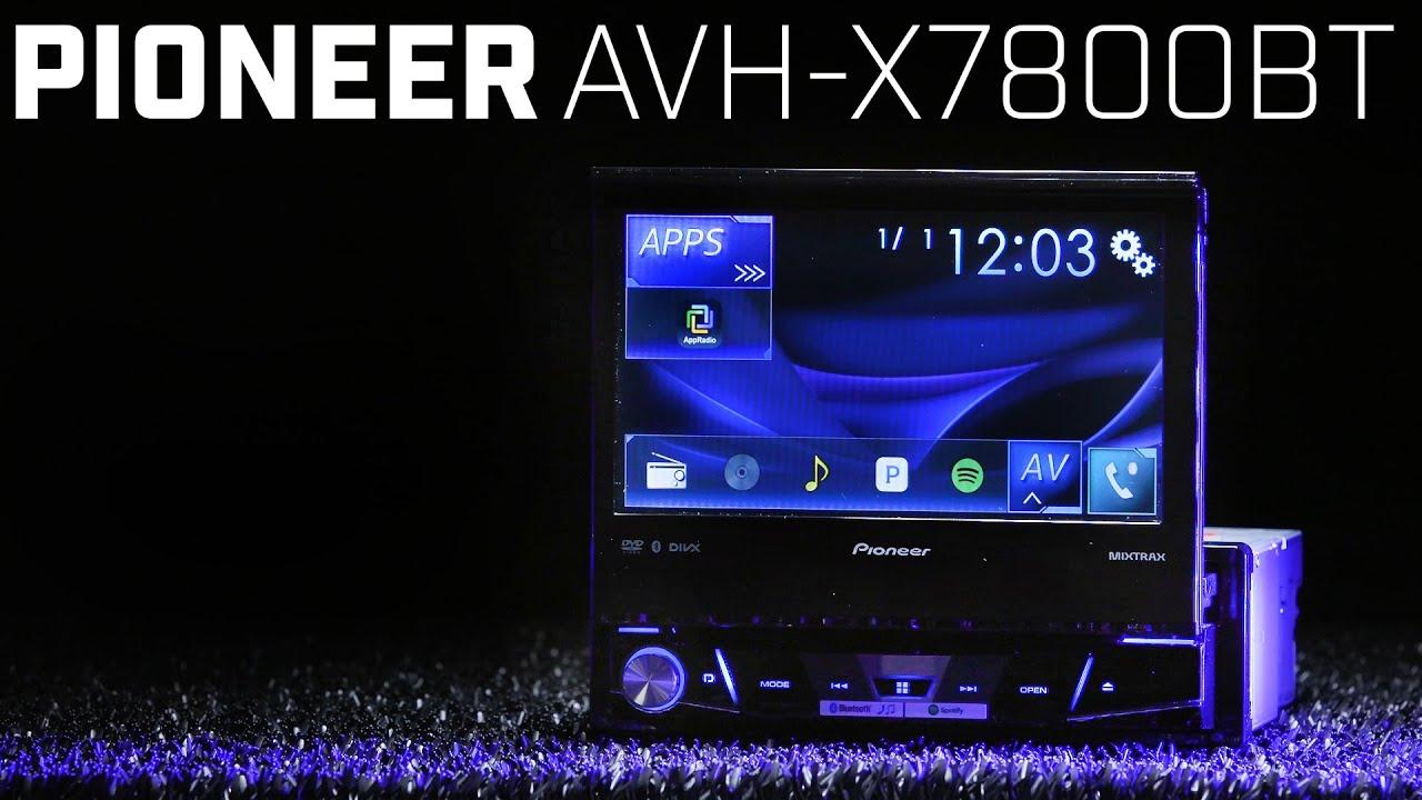 medium resolution of pioneer avh x7800bt single din 7 flip up display