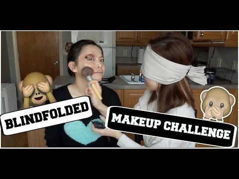Thử Thách Bịt Mắt Makeup ♡ Blindfolded Makeup Challenge ♡ TrinhPham ft Truc