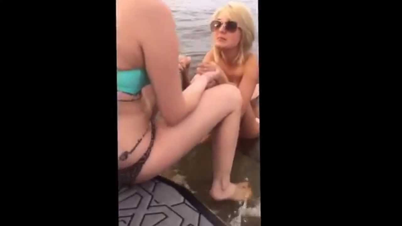 caught peeing boat Girls off