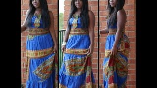 Outfit of the Day: Bold Blue & Ankara Print Maxi {Courtesy of Ghana}