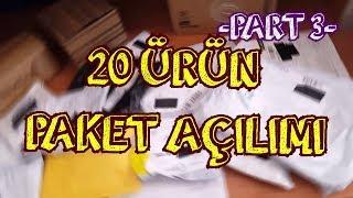 20 Paket Birden Açtık   #aliexpress Toplu Paket Açılımı   Part 3