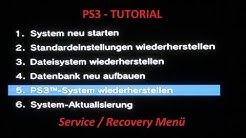 PS3 System reparieren - verstecktes Service / Recovery Menü * Tutorial *