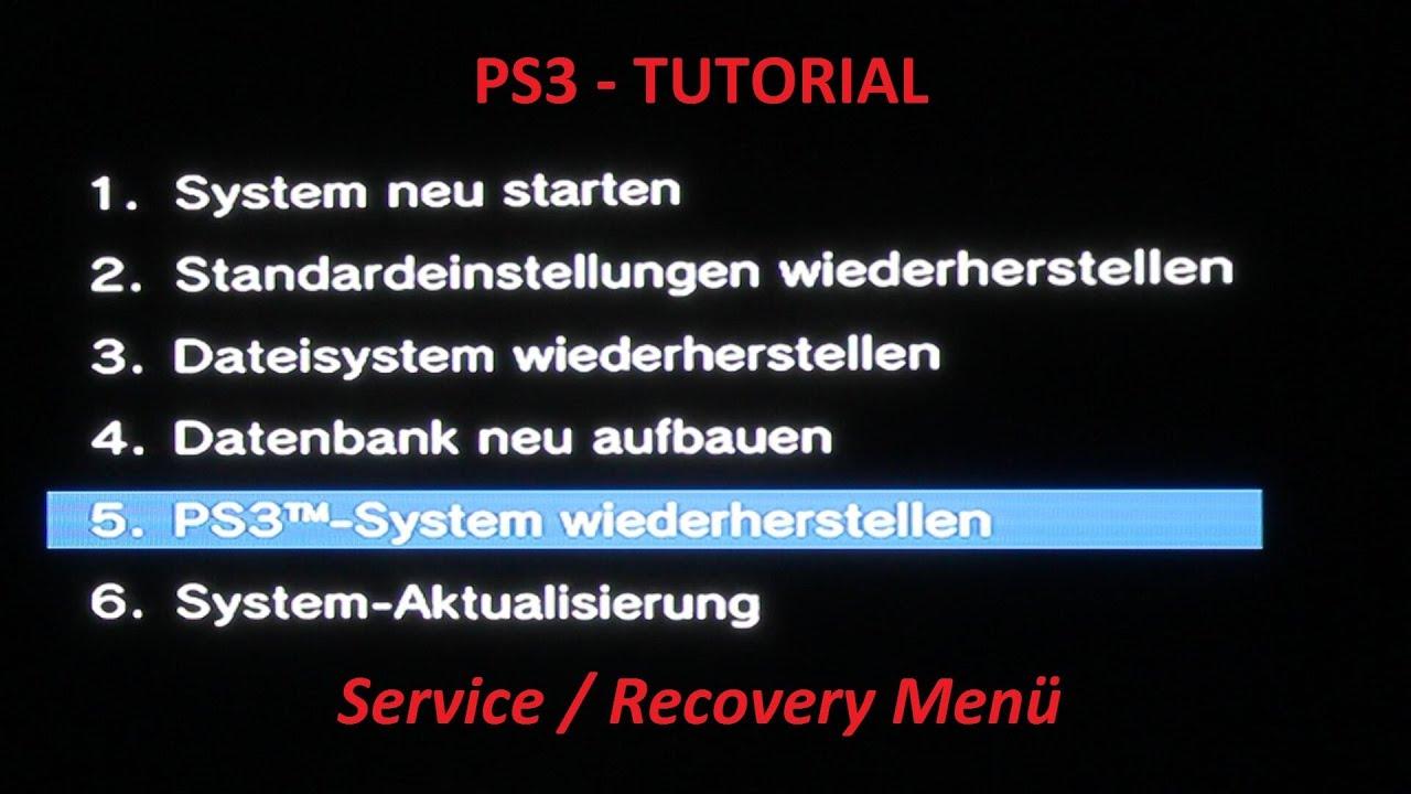 PS3 System reparieren - verstecktes Service / Recovery Menü ...