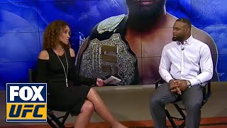 Tyron Woodley talks with Karyn Bryant  INTERVIEW  UFC Tonight