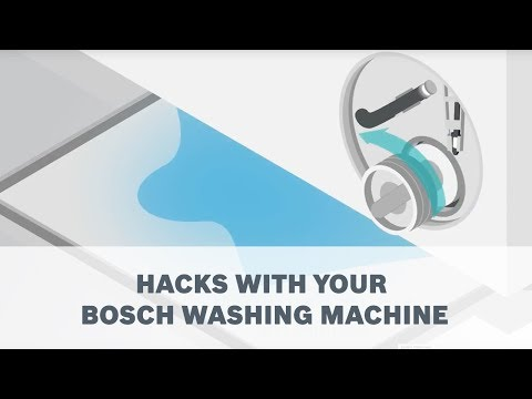 Hacks with your Bosch Washing Machine - YouTube