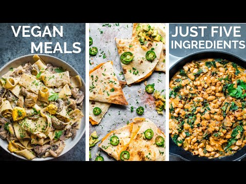 DELICIOUS 5-INGREDIENT VEGAN RECIPES (that aren't basic or boring)!