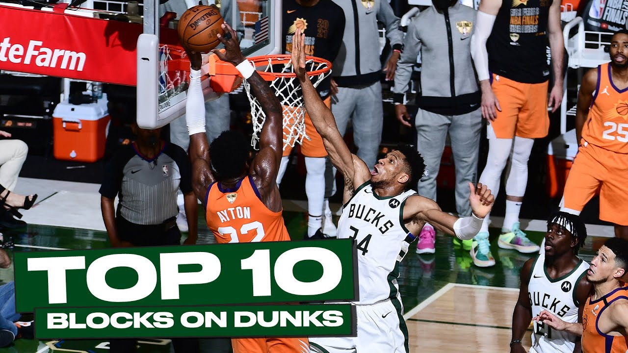 Top 10 Giannis Antetokounmpo BIG-TIME Rejections at the Rim! 😲