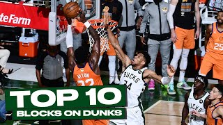 Top 10 Giannis Antetoĸounmpo BIG-TIME Rejections at the Rim! 😲