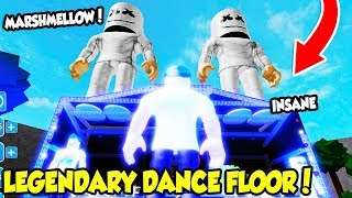 THE LEGENDARY MARSHMELLOW DANCE FLOOR IN GIANT DANCE OFF SIMULATOR IS INSANE!! (Roblox)