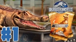 Jurassic World: The Game - BUYING A LEGENDARY CARD PACK - Jurassic World Gameplay Walkthrough Part 1
