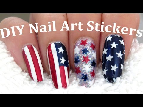 Easy American Flag 4th Of July Nail Art