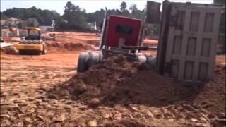 Quint Axle Dump Truck Flips!