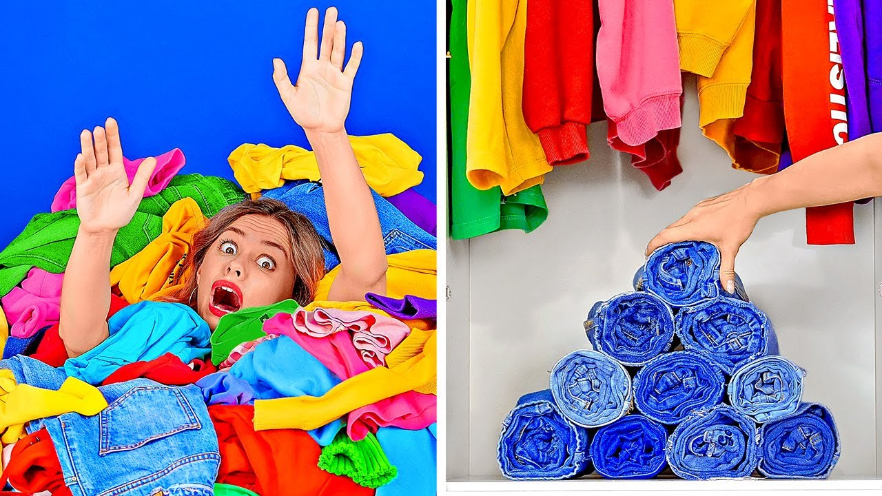 """SAY """"NO"""" TO THE MESS    DIY Folding and Organization Hacks And Ideas"""