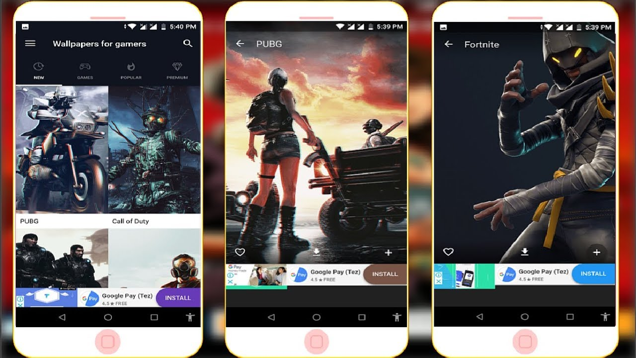 Popular Gaming Wallpaper App For Android Like Pubg, Fortnite U0026 Many More