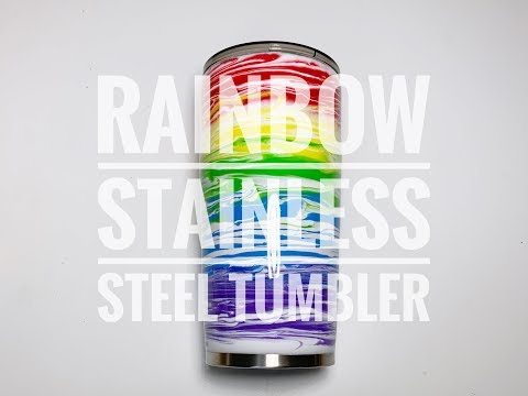 How to Use Acrylic Paint And Epoxy On Your Stainless Steel Tumbler- Beginner Level