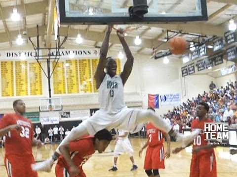 Bam Adebayo NASTY Slam Over Defender at 2015 City of Palms Classic - Kentucky Bound 6'10 Bam Adebayo with a Nasty slam at the 2015 City of Palms Classic.