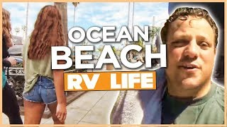 Ocean Beach San Diego Stealth Camping In A RV Roof Top AC Shroud Replacement & Back To Pio Pico RV R
