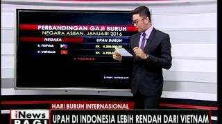 Inilah perbandingan upah buruh di negara di Asean - iNews Pagi 02/05