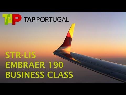 TAP Express Embraer 190 flight Stuttgart - Lisbon Business Class