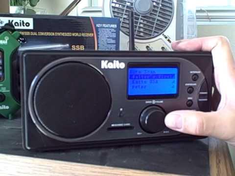 Kaito KA-IR168 Internet Radio Wi-Fi set up