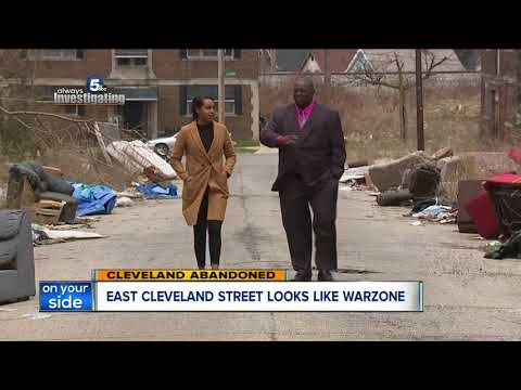 Despite looking like a war zone, buildings on an East Cleveland street won't be demolished soon