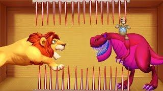 T-Rex Buddy vs Lion King Spines   Kick The Buddy