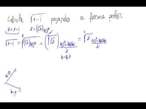 Raíz cuadrada de un número complejo pasando a polares - Didactalia ...
