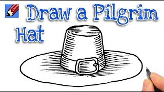 How to draw a Pilgrim Hat Real Easy