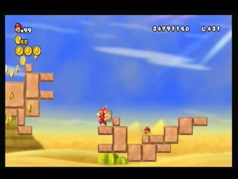 New Super Mario Bros.Wii - World 2 Secret Warp Pipe Exit