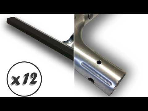 Sans manche extracteur deau pour sol balai raclette Longueur 44 cm Caoutchouc mousse noire 2 lames Kibros 1545 Raclot