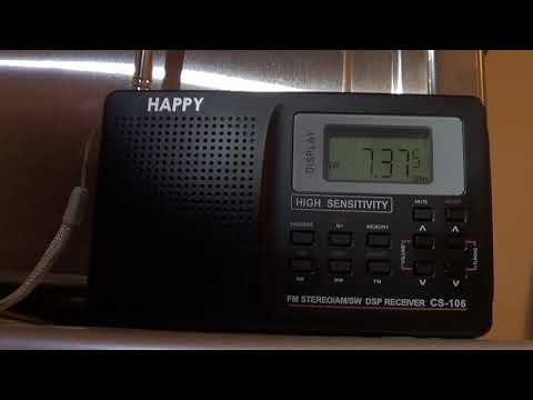 Radio Romania 7375 Khz Shortwave on Happy CS106 receiver
